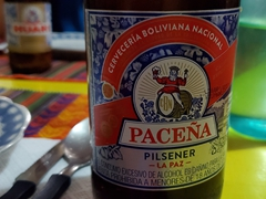 Paceña, Bolivian beer from La Paz