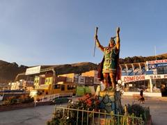 Manco Capac statue; San Pedro de Tiquina