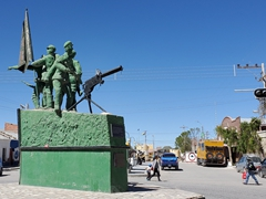 War monument on Av Ferroviaria; Uyuni
