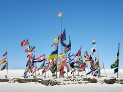 World flags; Uyuni Salt Flats