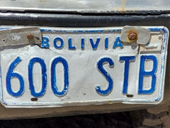 Bolivian license plate