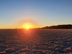 A gorgeous sunset over the Uyuni Salt Flats