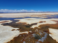 "The ""Eyes of the Salt Flat"" (Ojos de Sal) are the outlets for subterranean rivers flowing under the Uyuni Salt Flat"
