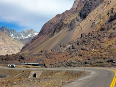 Driving through the Andes to Santiago