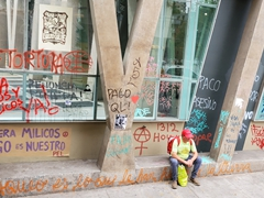Once beautiful Santiago has been blanketed with anti-government graffiti