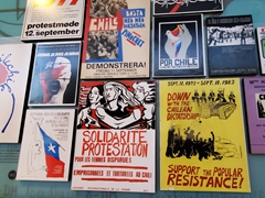 Political resistance posters during Pinochet's dictatorship in Chile; Museum of Memory and Human Rights