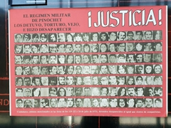 Poster of the 119 political dissidents who were abducted and killed during Operation Colombo by Chilean secret police