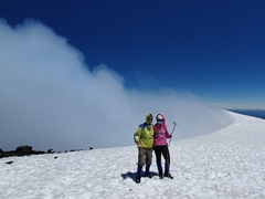After 5 hours of continuous hiking, we made it to the summit of Villarrica!