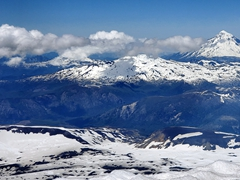Check out the neighboring volcanoes from the top of Villarrica