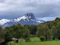 Rugged mountain peaks near Futaleufú