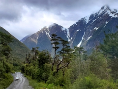 Rugged mountainous drive to reach Coyhaique
