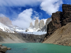 Rewarded with this view of the towers of Torres del Paine!