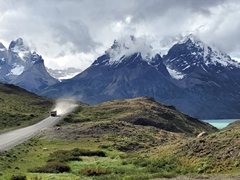Stunning drive through Torres del Paine National Park