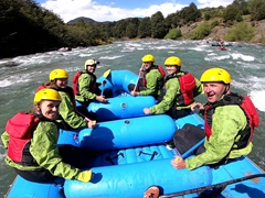 Our rafting team - Hanna, Lisa, Robby, Jason, Becky & Danny; Futaleufú River