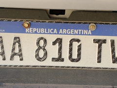 Argentina license plate