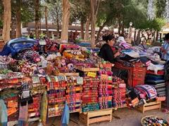 Outdoor souvenir market; Purmamarca