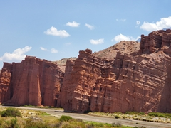 Red sand formations near Cafayate