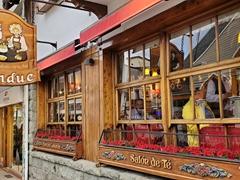 Celebrating Robby's birthday at La Marmite, a fondue restaurant in Bariloche