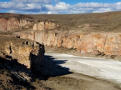Small salt flat at Canadon Caracoles