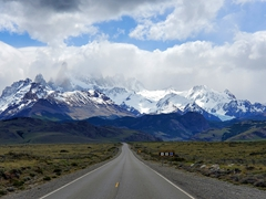 The road leading to El Chalten