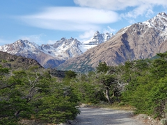 The start of our amazing day hike towards the viewpoint of Mt Fitz Roy; El Pilar Hostel