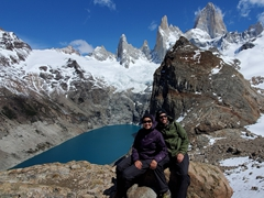 Striking a pose with Mount Fitz Roy in the background - what a spectacular day!