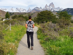 Loads of easy hiking trails around El Chalten with phenomenal views!
