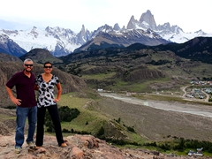 At the top of the Condor lookout point; El Chalten