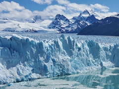 We witnessed a large section of Perito Moreno glacier calve...truly an awe inspiring sight!