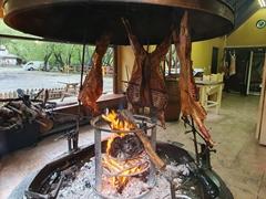 Patagonian lamb at La Marca, an all you can eat restaurant; El Calafate