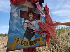 Shrine to Gauchito Antonio Gil, a local folk saint