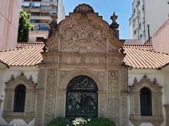 Elaborate carved fascade of the Casa de Ricardo Rojas museum; Buenos Aires