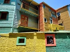 The colorful shacks of Caminito