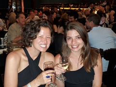 Becky and Rebeca all dressed up for the tango show