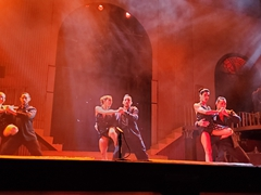 Amazing dancers at the tango show; Buenos Aires