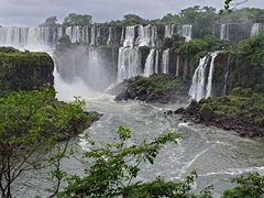 Even on a rainy day, the waterfalls of Iguazu do not fail to impress