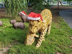 Christmas hats on the animals of the Pantanal at Pousada Santa Clara