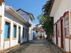 The lovely cobblestone town of Paraty