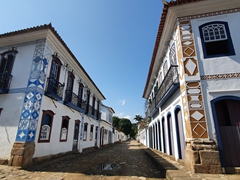 Beautifully preserved colonial buildings in Paraty