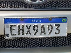 Brazil license plate