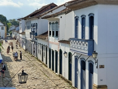Colonial houses in Paraty are a result of the Brazilian gold rush of the 17th and 18th century