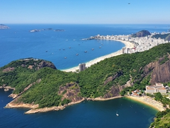 Phenomenal views of Rio's Copacabana Beach from Sugarloaf Mountain