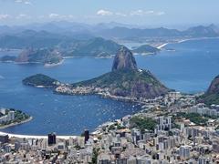 Gorgeous vistas from Christ the Redeemer; Rio de Janeiro