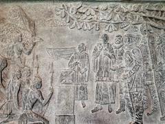 Stone carving inside Rio de Janeiro Cathedral