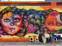 Colorful mural; Rio