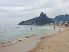 Ipanema beach the day after new years