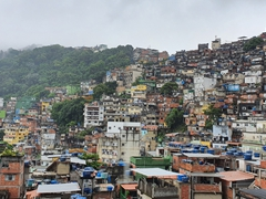 View of Rocinha Favela, the largest favela in Brazil