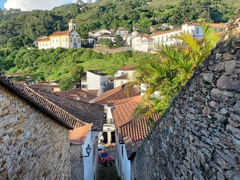 Ouro Preto (black gold) is a former colonial mining town and we loved walking up and down its cobblestone streets