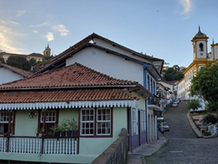 Well preserved colonial houses abound in picturesque Ouro Preto