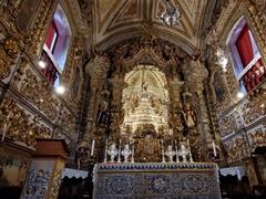 Gold interior of the Basílica Nossa Senhora do Pilar, built at the end of the 17th century using hundreds of kilos of gold and silver; Ouro Preto